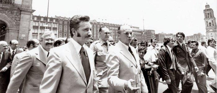 Luis Echeverria y Fernando Gutierrez Barrios