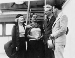 Frida Kahlo y Leon Trotsky