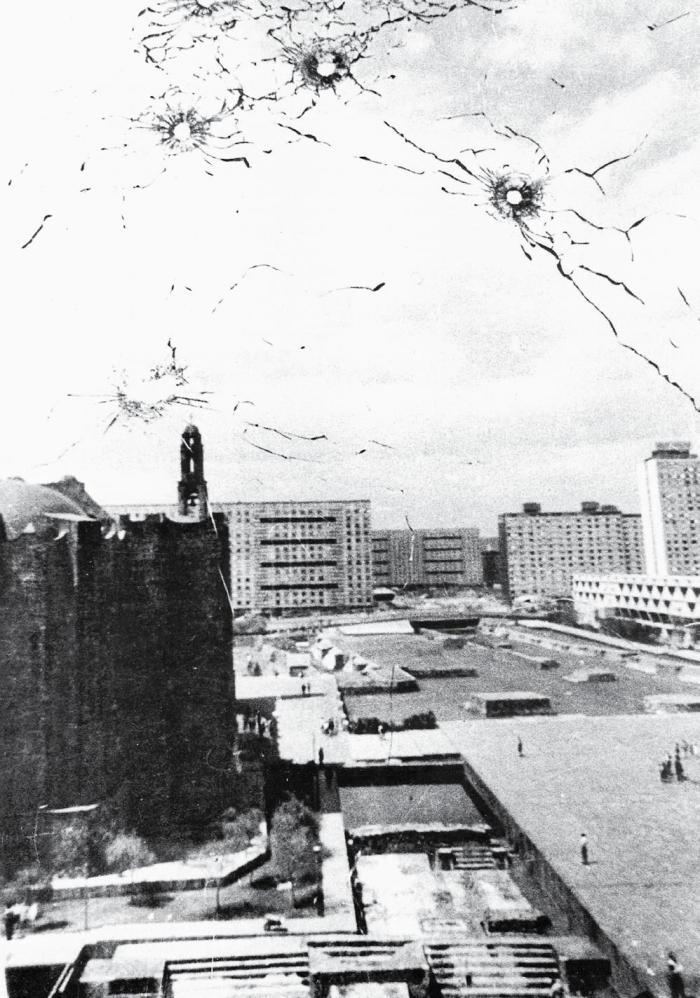 Ventana edificio tlatelolco