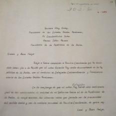 Carta a Gustavo Díaz ordaz.