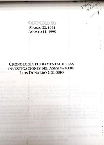 Cronología elaboradla por especialistas del Cisen