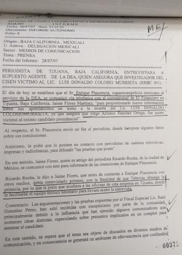 Luis Donaldo Colosio: el extraño expediente del Cisen